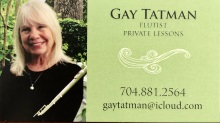 Learn to play the flute with Gay Tatman